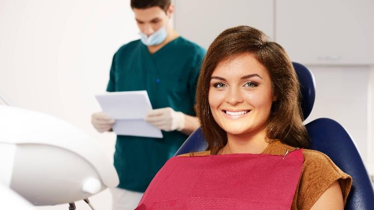 Woman at Dentist Office | Sparkle Dental Care