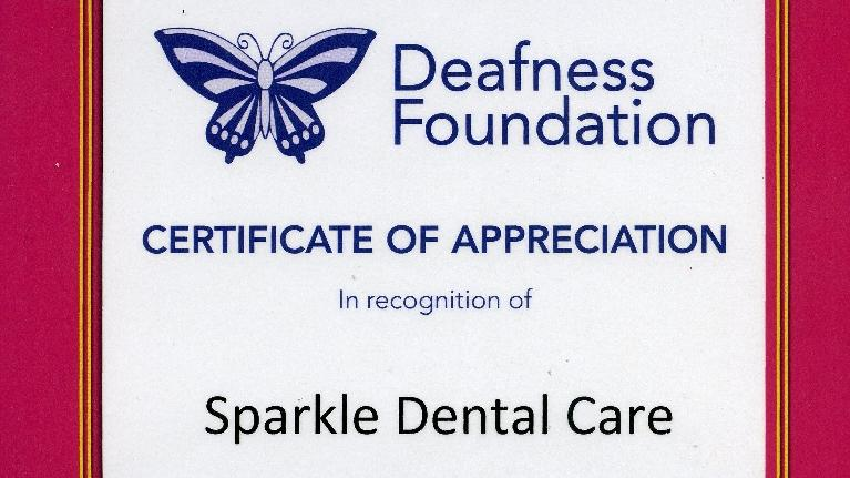 Certificate of Appreciation | Bayside VIC Dentist